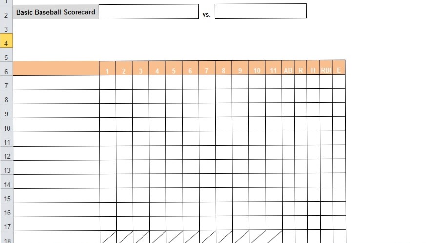 Baseball Stats Tracker Free Download [Excel, Word, PDF]