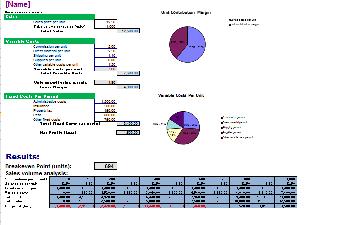 Free Break Even Analysis Template (Excel, Word)
