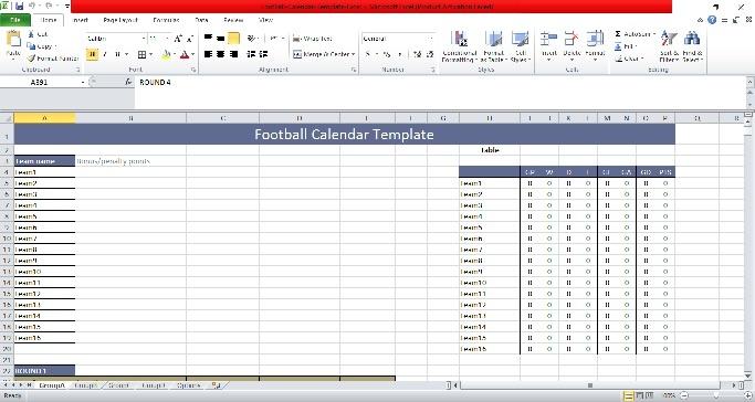 Free Football Calendar Templates [Excel+PDF]