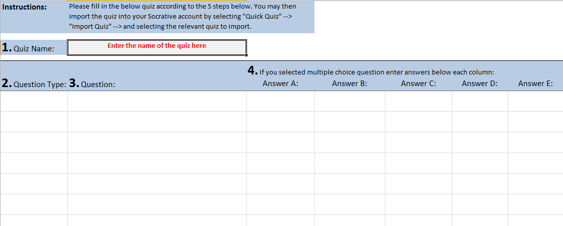 Free Multiple Choice Test Maker Template 2020 Free Download