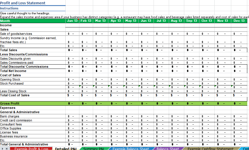 Free Restaurant Profit and Loss Statement Template (Excel, PDF)