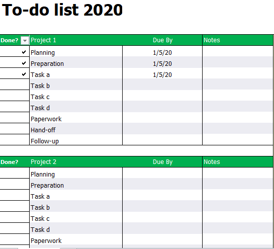 Free To Do List Template [Excel+Word+PDF]