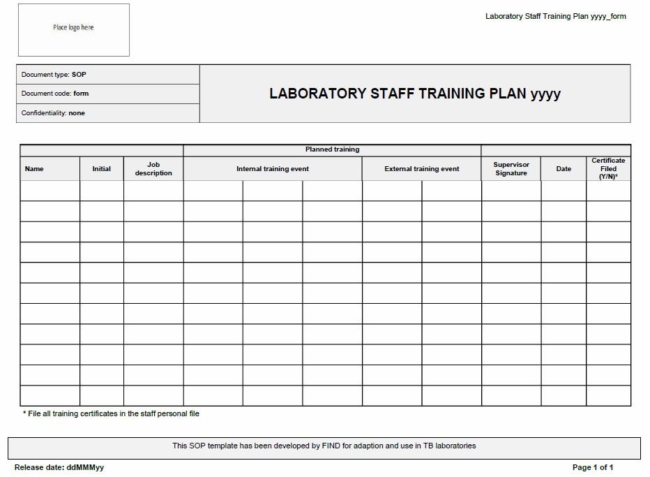 staff training schedule template