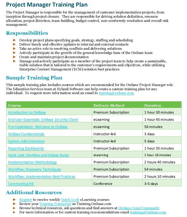staff training development plan template