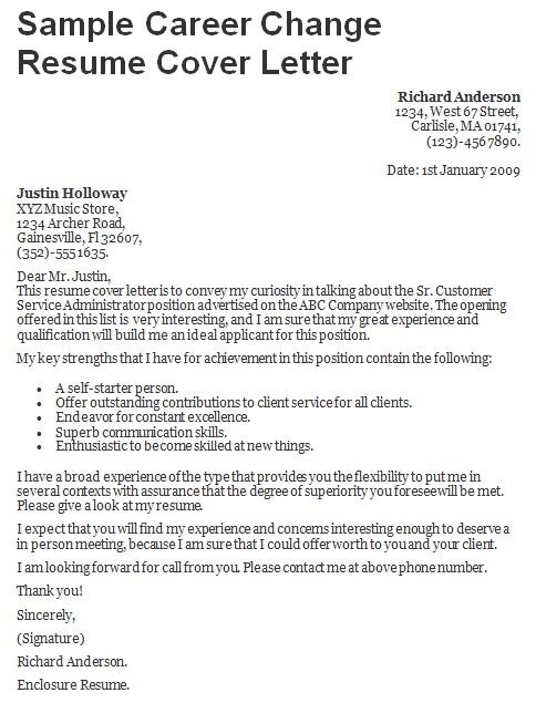 sample cover letter for career change to teaching