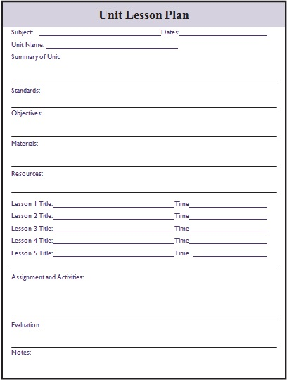 free lesson plan templates