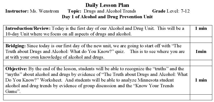 activity plan template