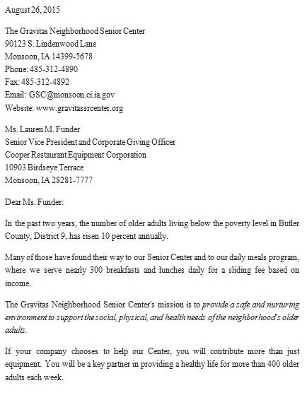 donation letter template for nonprofit organization