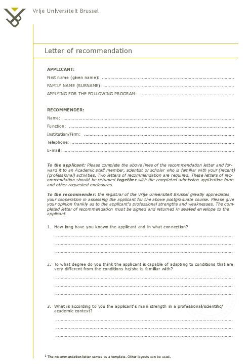 sample endorsement letter