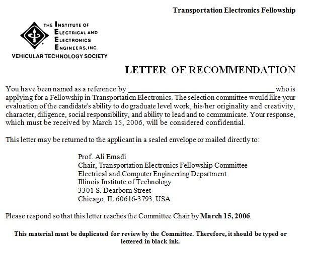 recommendation letter sample for job
