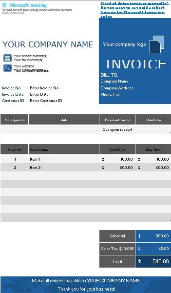 free sales invoice