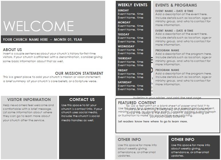 lds sacrament meeting program template