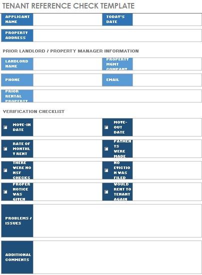 rental spreadsheet