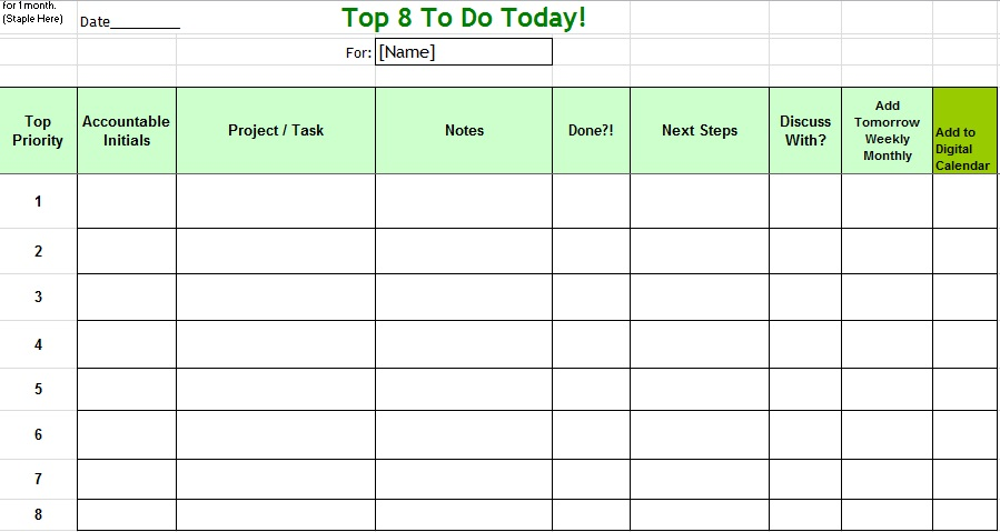 to do list format