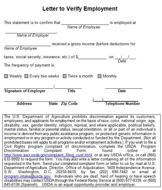 Free Employment Verification Letter Templates [Word]