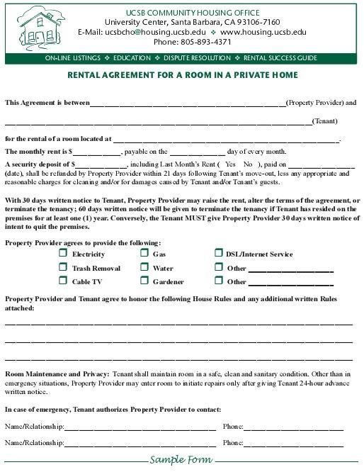 20+ Free Room Rental Agreement Templates [Word+PDF]