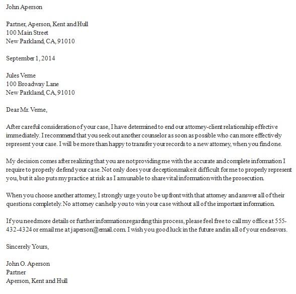 attorney client termination letter