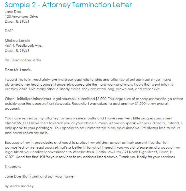 attorney termination letter 1