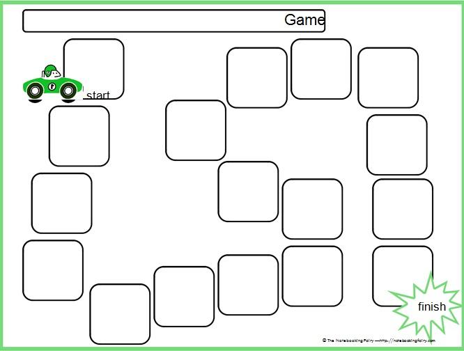board game template 12
