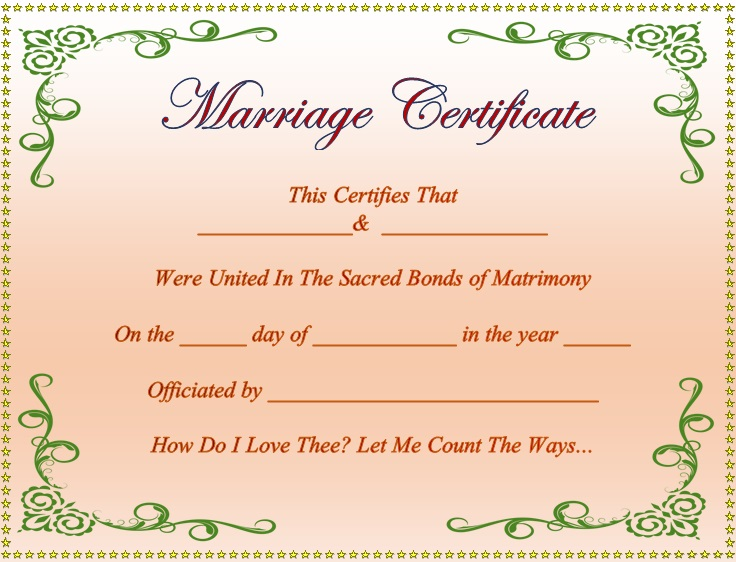 26+ Free Marriage Certificate Templates [Word]