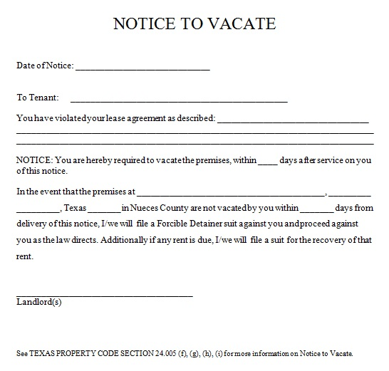 31+ Free 30-Day Notice to Vacate Templates [Word]