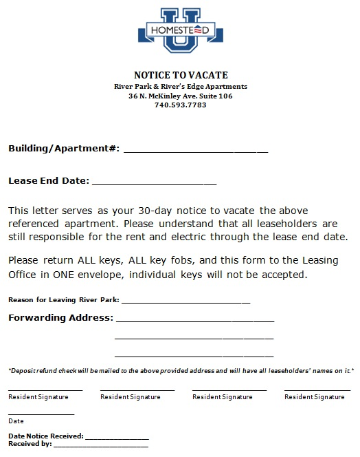 30 day notice to vacate 8