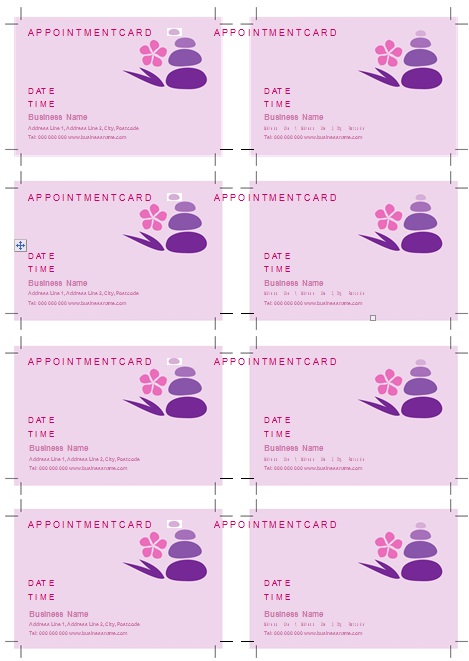 appointment cards template 1