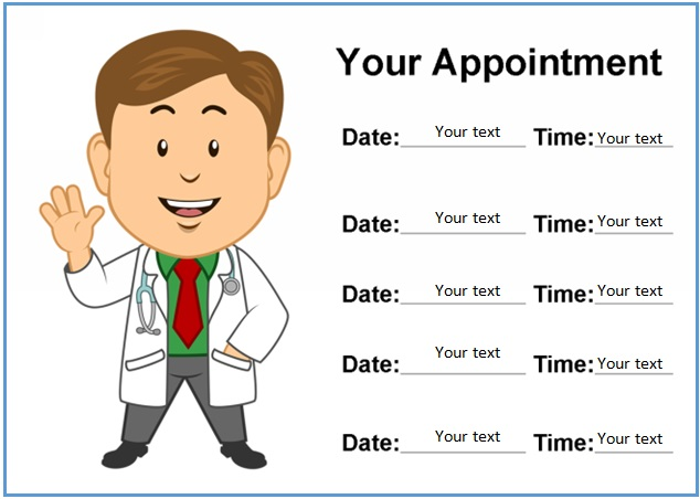 31+ Printable Appointment Cards Templates [Word]