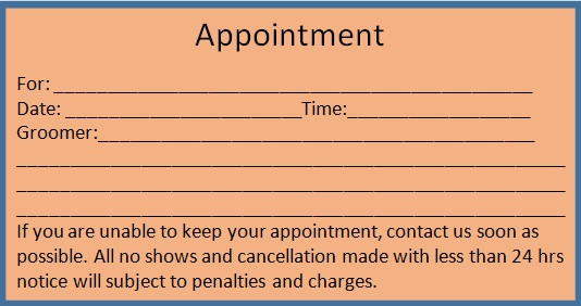 appointment cards template 12