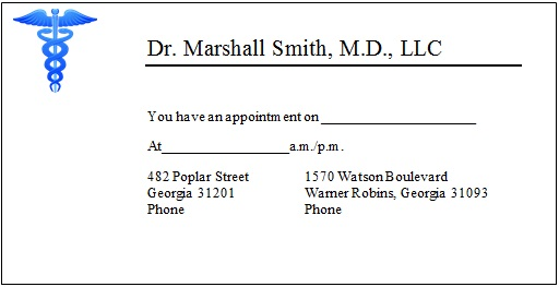 appointment cards template 16