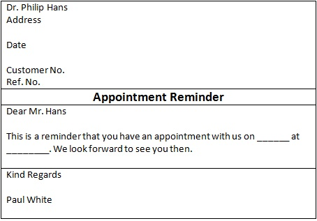 appointment cards template 20