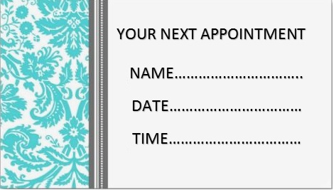 appointment cards template 21