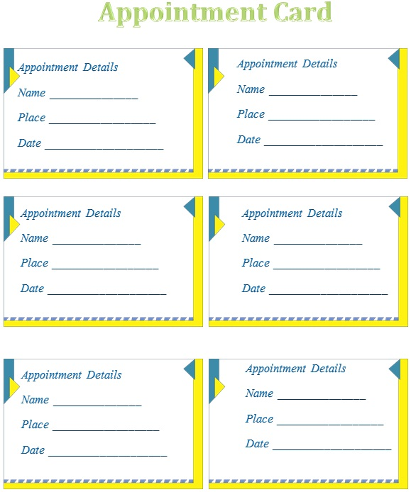 appointment cards template 24
