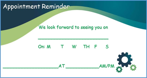 appointment cards template 25