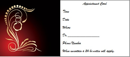 appointment cards template 27