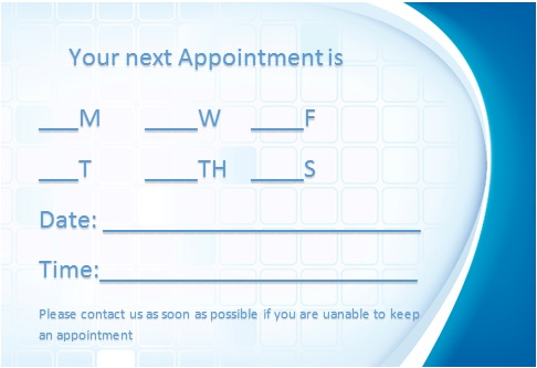 appointment cards template 30