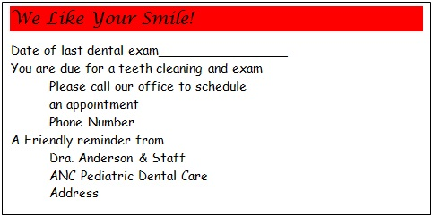 appointment cards template 4