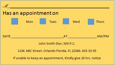 appointment cards template 5