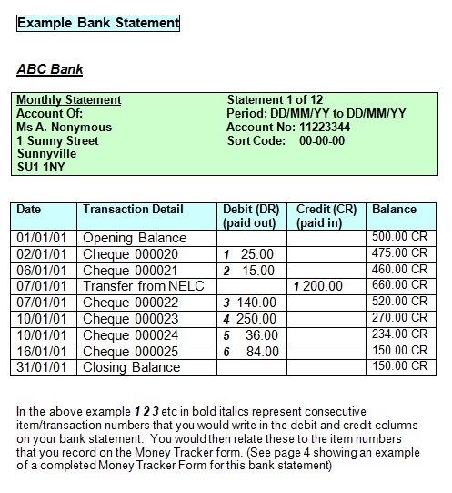 bank statement template 13