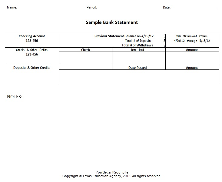 bank statement template 16