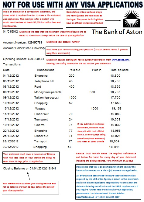 bank statement template 26