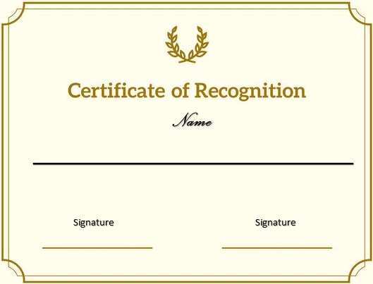 certificate of recognition 1