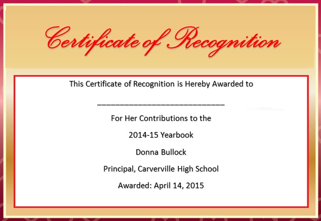 certificate of recognition 12