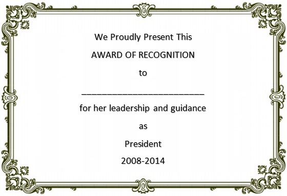 certificate of recognition 13