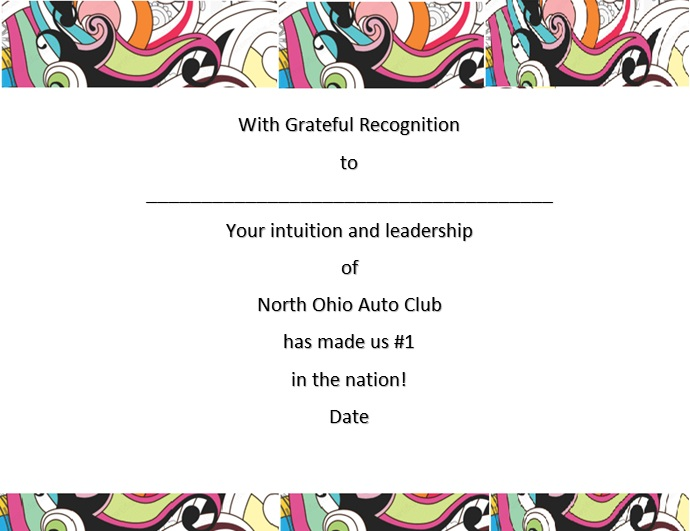 certificate of recognition 23