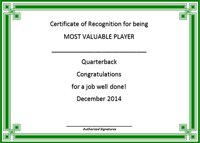 certificate of recognition 28