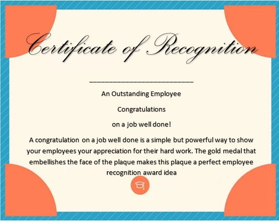 certificate of recognition 5