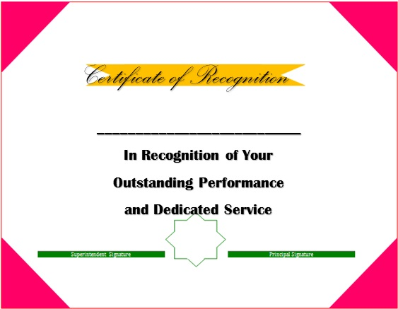 certificate of recognition 6