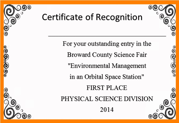 certificate of recognition 7