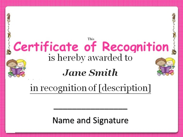certificate of recognition 9
